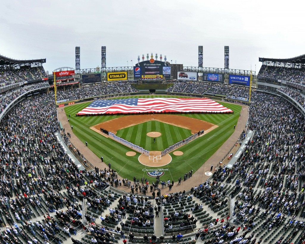 The 1996 rom-com, My Best Friend's Wedding, featured Comiskey Field (today called Guaranteed Rate Field), home to the White Sox.